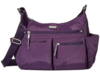 Baggallini New Classic Heritage Anywhere Large Hobo with RFID Phone Wristlet (Grape Jelly) Hobo Handbags