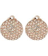 Nina Medium Pave Button Clip Earrings; Elements By Swarovski
