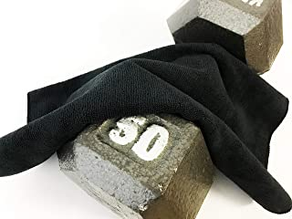 ALLEN DEFENSE) (3- Pack Black Microfiber Gym Towels. [Highly Absorbent, Soft to The Touch, and Durable.] These Gym Towels Have A Well-Constructed Blend Materials!