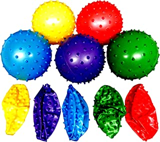 Rhode Island Novelty 50 Knobby Balls 5 Colors 4½ Inch Childrens Party Favor Toy 10 of Each Color