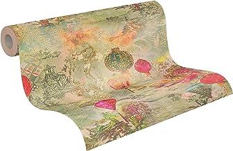 Japans Behang Asian Fusion A.S. Création Vliesbehang 10.05 m x 0.53 m Groen Rood Beige Gemaakt in duitsland 374661 37466-1