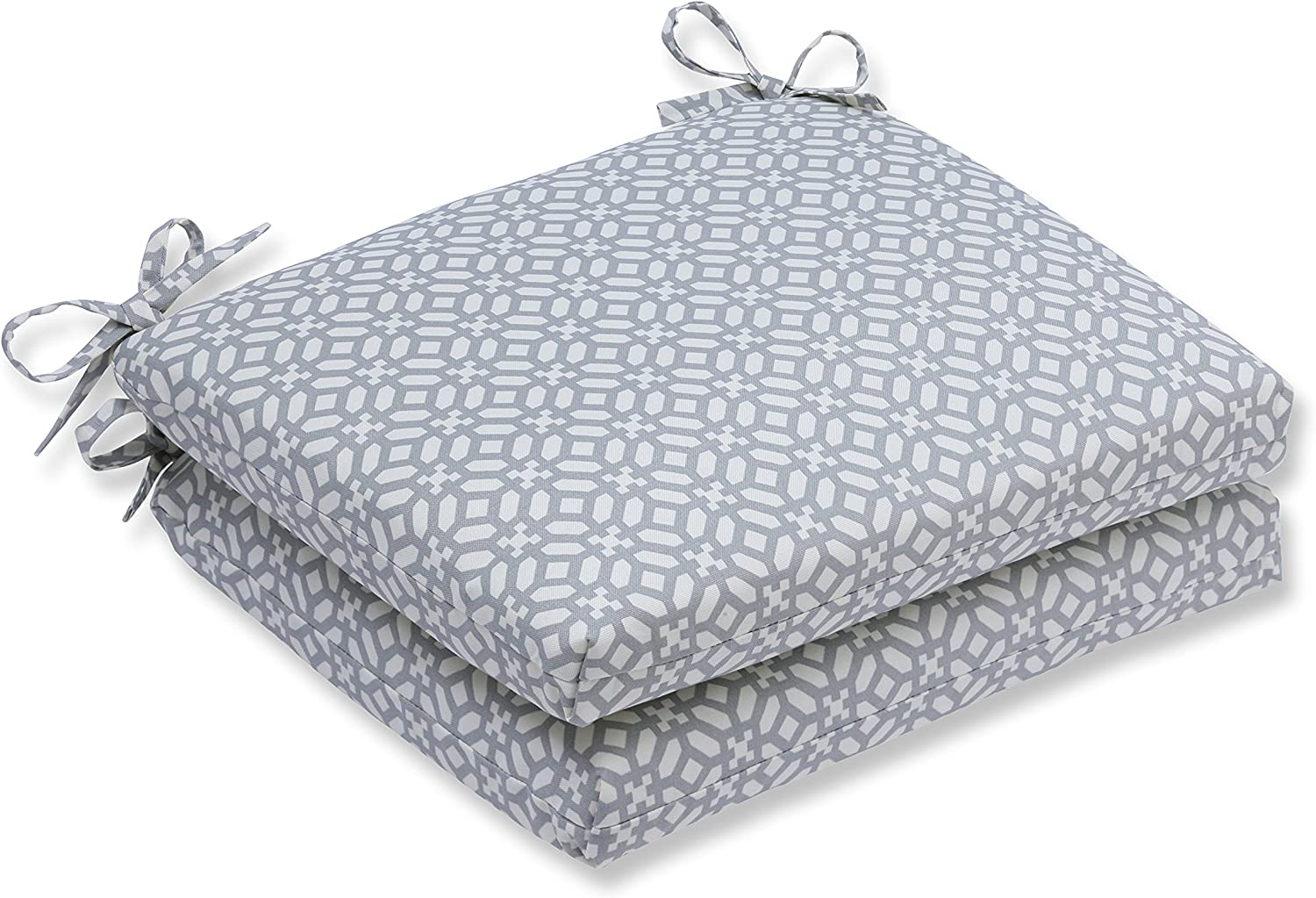 Pillow Perfect Outdoor Indoor in The Frame Pebble Squared Corners Seat Cushion (Set of 2)