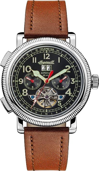 Ingersoll the bloch orologio automatico da uomo con cinturino in pelle I02602