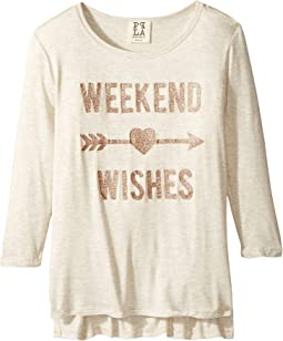 People's Project LA Kids - Wishes 3/4 Knit Tee (Big Kids)