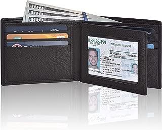 Designer Wallets for Men - Brown Real Leather RFID Blocking Slim Bifold Wallet