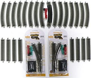 N Scale Bachmann Nickel Silver EZ Track Pack for Model Railroad Trains