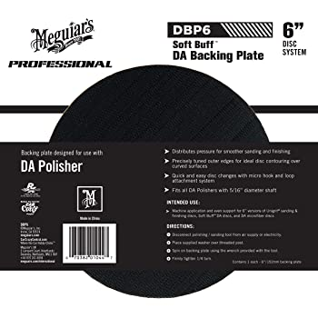 """Meguiar's 6"""" DA Backing Plate – Pair With Foam or Microfiber Pads for Dual Action Polishing – DBP6"""