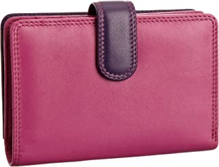 RB51 Multi Coloured Large Bifold Plus Soft Leather Ladies Wallet & Purse