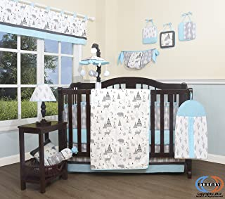 GEENNY Baby New Woodland Forest Deer 13 Piece Nursery Crib Bedding Set