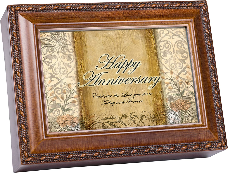 Cottage Ranking TOP16 Garden Happy Anniversary Woodgrain Max 66% OFF Trim Jewelry Rope Mus