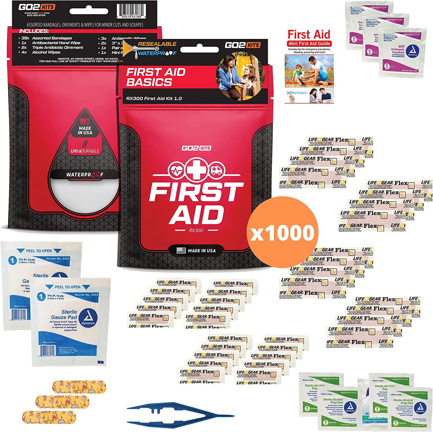 Go2Kits 34 Piece First Aid Cash special price Featuring Wipe Kit Time sale Assorted Bandages