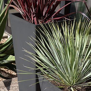 Veradek V-Resin Indoor/Outdoor Taper Planter, Set of 2