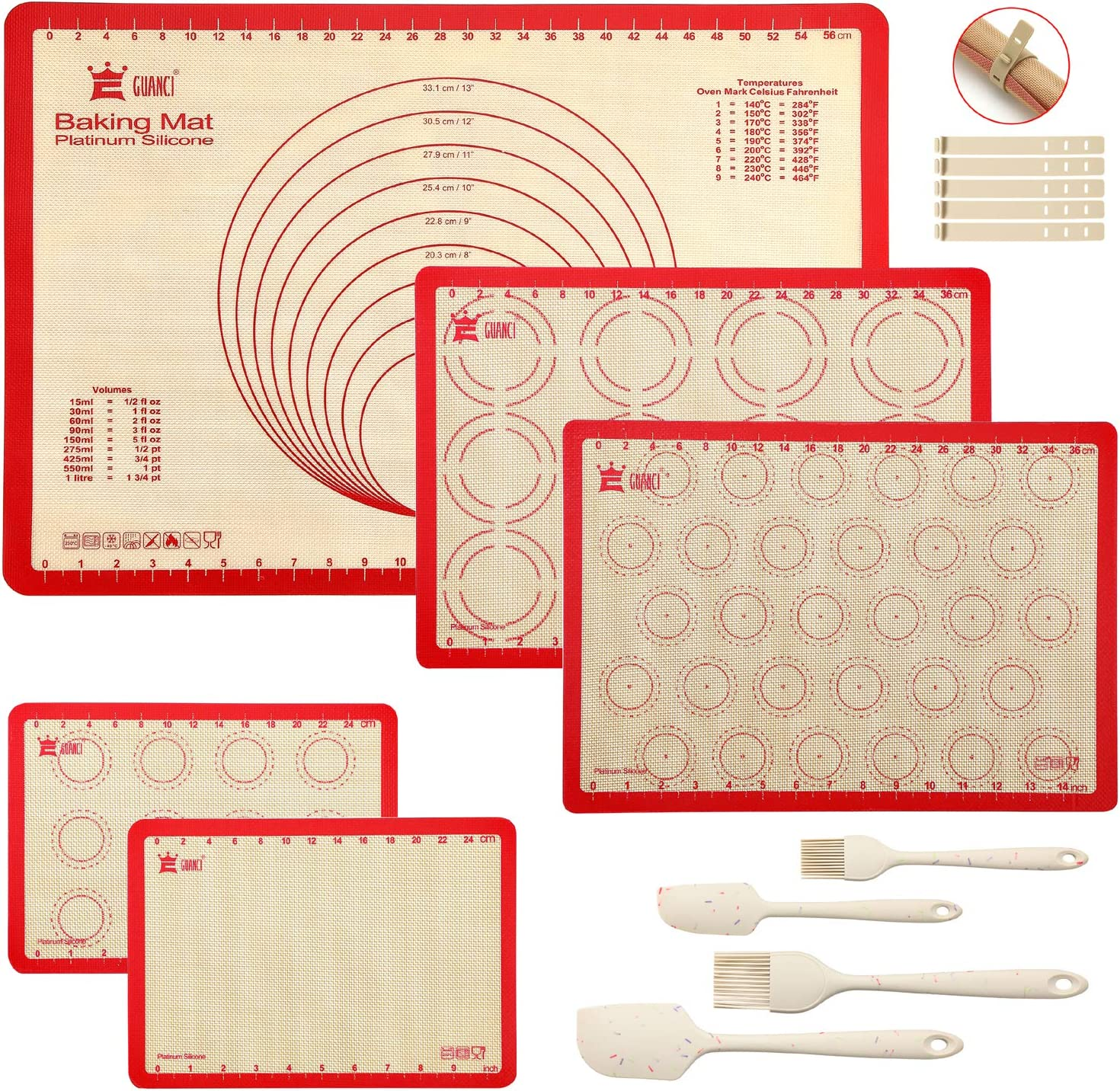 9-Piece Silicone Baking Mat Tucson Mall Set Cash special price 1Pcs Pastry 2'' 25''x17-1 2