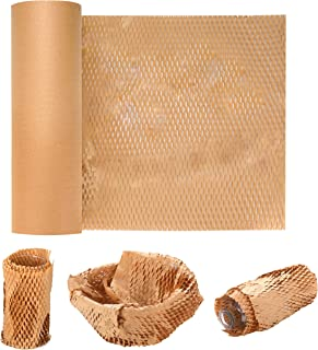 """11.8"""" x 164 FT Eco-Friendly Honeycomb Cushioning Protective Wrap for Packing/Storing Delicate Items, Easy to Dispense Rol..."""