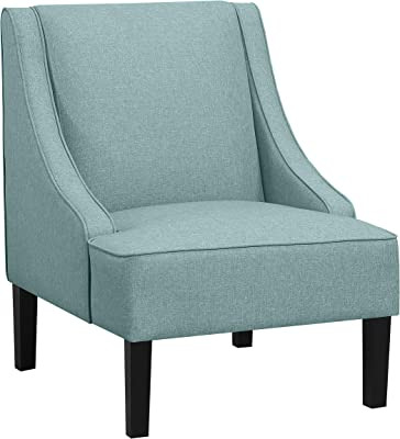 Amazon Brand Ravenna Home Eddison Modern Slope Accent Chair 32 W Blue Furniture Decor