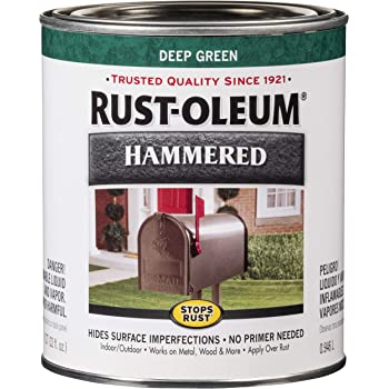 Rust-Oleum 7211502 Hammered Metal Finish, Deep Green, 1-Quart (Packaging may vary)