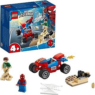 LEGO 76172 Spider-Man and Sandman Showdown Bouwset met een Racewagen en Superhelden Poppetjes voor Kinderen vanaf 4 Jaar