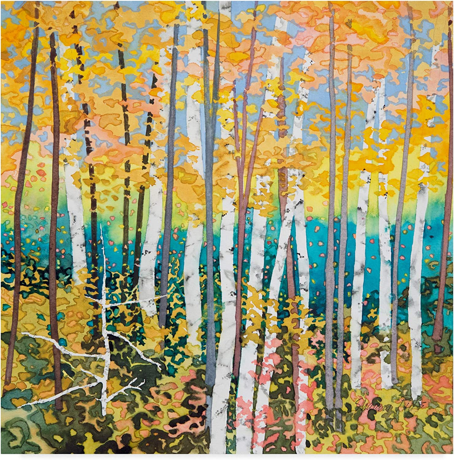 Trademark Fine Art Mystery of Trees 2 by Sharon Pitts 2, 14x14-Inch