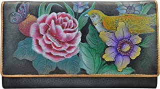 Anuschka Women's Hand Painted RFID Blocking Two Fold French Wallet