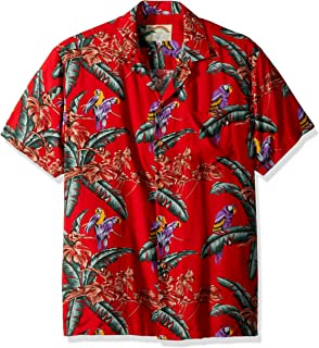 0889c5aaaac Paradise Found Mens Jungle Bird Tom Selleck Magnum PI Rayon Shirt