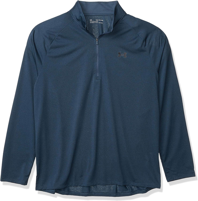 Milwaukee Mall Under Armour Super beauty product restock quality top Men's Tech 1 2 Long-Sleeve Zip B T-Shirt Mechanic