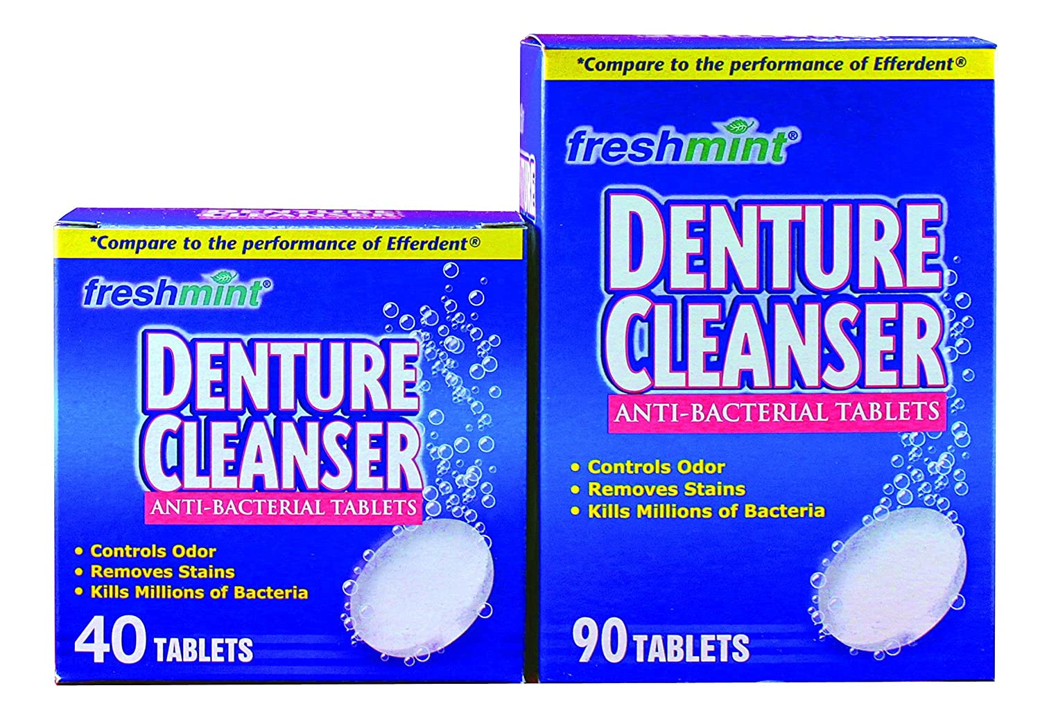 NEWDENT90BX - Freshmint Denture Albuquerque Mall Low price Cleanser Count Mint Tablets 90