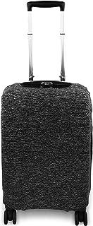 Containers By Aline- Funda protectora para maletas de viaje de lycra elástica en 3 tamaños universales de maletas antipolvo y anti rayaduras - Forro para equipajes - Cubierta para equipajes - Color Gris Jaspe, Tamaño Chica
