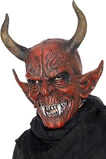 Smiffys-25314 Careta de demonio, Para la cabeza, látex, color rojo, Tamaño único (Smiffy's 25314) , color/modelo surtido