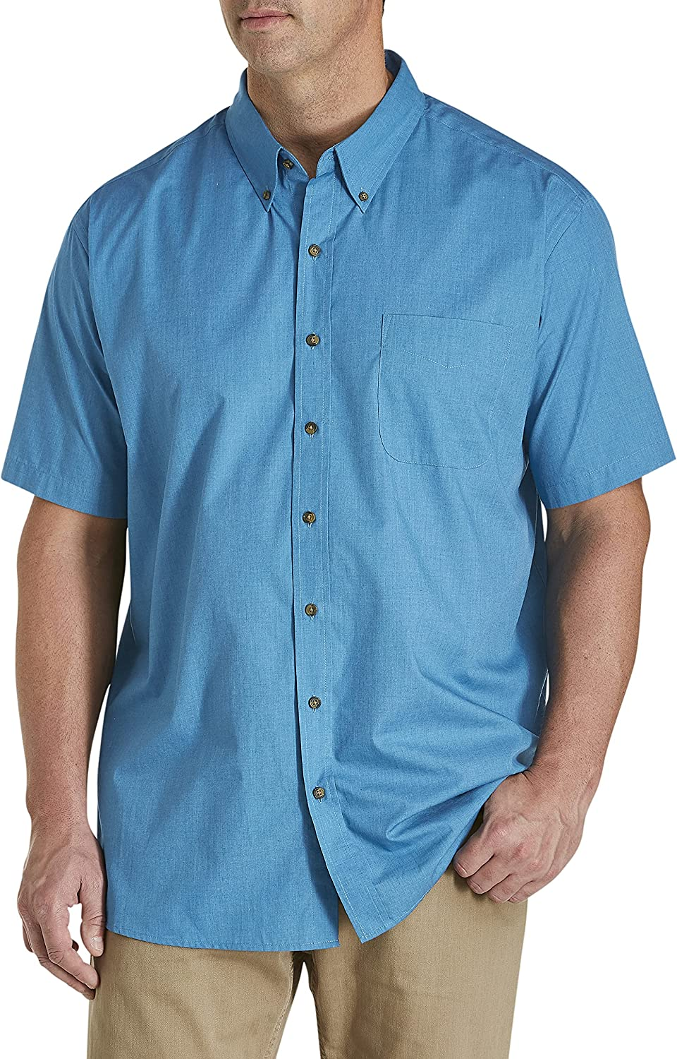 Harbor Bay by Excellence DXL Big and Easy-Care Shirt Solid Tall Tampa Mall Sport