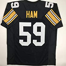 Unsigned Jack Ham Pittsburgh Black Custom Stitched Football Jersey Size Men's XL New No Brands/Logos
