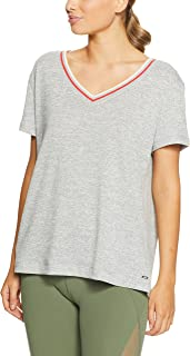 Lorna Jane Women's Charlotte Tee, Snow Grey Marl