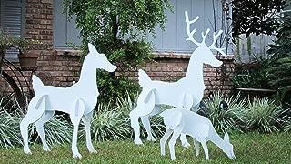 Teak Isle Christmas Outdoor Reindeer Family, Christmas Deer Set