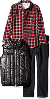 Calvin Klein Boys' 3 Pieces Vest Set-Shirt