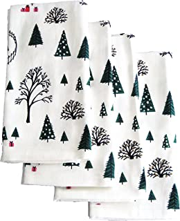 Kate Spade Holiday Village Fabric Napkins, Bundle of 4