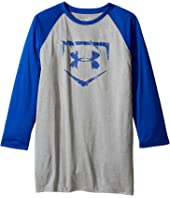 Under Armour Kids - 3/4 Sleeve Baseball Tee (Big Kids)