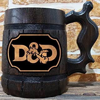 Dungeons and Dragons Beer Mug, Dungeons & Dragons Beer Stein, Gamer Gift, Personalized