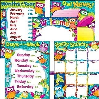 TREND enterprises, Inc. Classroom Basics Owl-Stars! Learning Chts Combo Pk, Set 5