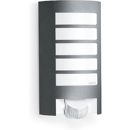 Steinel luminaire extérieur L 12 anthracite - détecteur de mouvement 180° - portée 10 m - E27 - 60 W max. - applique murale