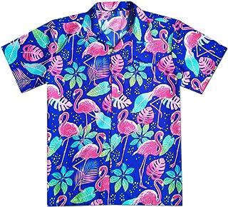 Virgin Crafts Men's Hawaiian Shirt Short Sleeve Beach Aloha Summer