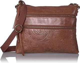 The Sak Women's Reseda Leather Crossbody Handbag, Teak Leaf, One Size