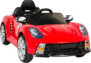 Best Choice Products 12V Kids Battery Powered Remote Control Electric RC Ride-On Car w/ 2 Speeds, LED Lights, MP3, AUX - Red