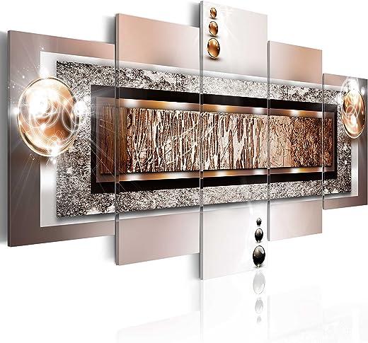 murando – Bilder Abstrakt 200×100 cm Vlies Leinwandbild 5 TLG Kunstdruck modern Wandbilder XXL Wanddekoration Design Wand Bild – Textur Perlen…