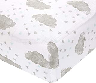 Aden by aden + anais Classic Crib Sheet, Partly Sunny - Starry Showers