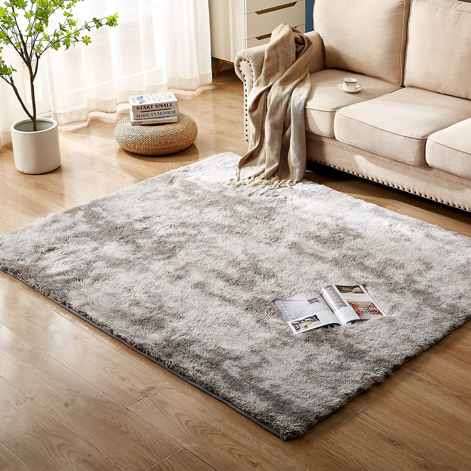 Popular product Floralux Ultra Soft Indoor Modern Area Rugs Popular product 5x8 Living Ro Fluffy