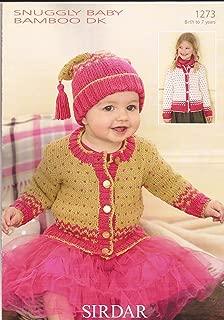 Sirdar Snuggly Baby Bamboo DK Knitting Pattern 1273 Cardigan & Hat
