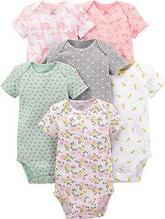 Baby Girls' 6-Pack Short-Sleeve Bodysuit