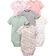Simple Joys by Carter's Baby Girls' 6-Pack Short-Sleeve Bodysuit