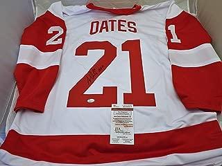 Adam Oates Signed / Autographed Detroit Red Wings White Jersey HOF 12 Inscription....JSA COA