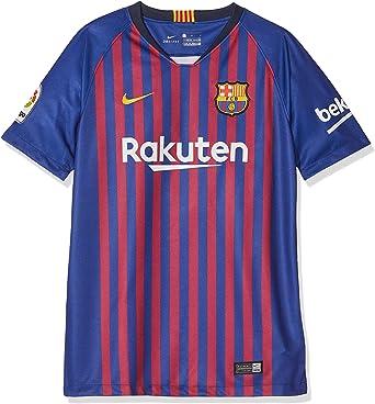 Nike FC Barcelona Breathe Stadium Jersey Short-Sleeve Home Sport Shirt Bambino