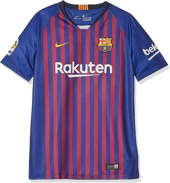 Nike FCB Camiseta 1ª Equipación Temporada 2017-2018, Línea FC Barcelona, Niños